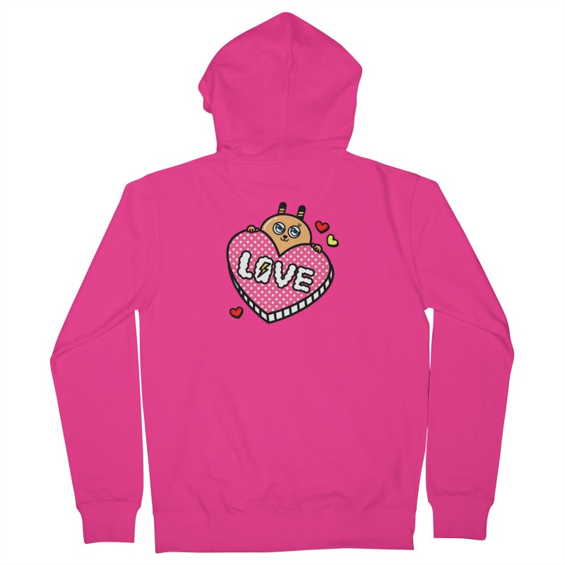 Love is so sweet Men's French Terry Zip-Up Hoody by beatbeatwing's Artist Shop