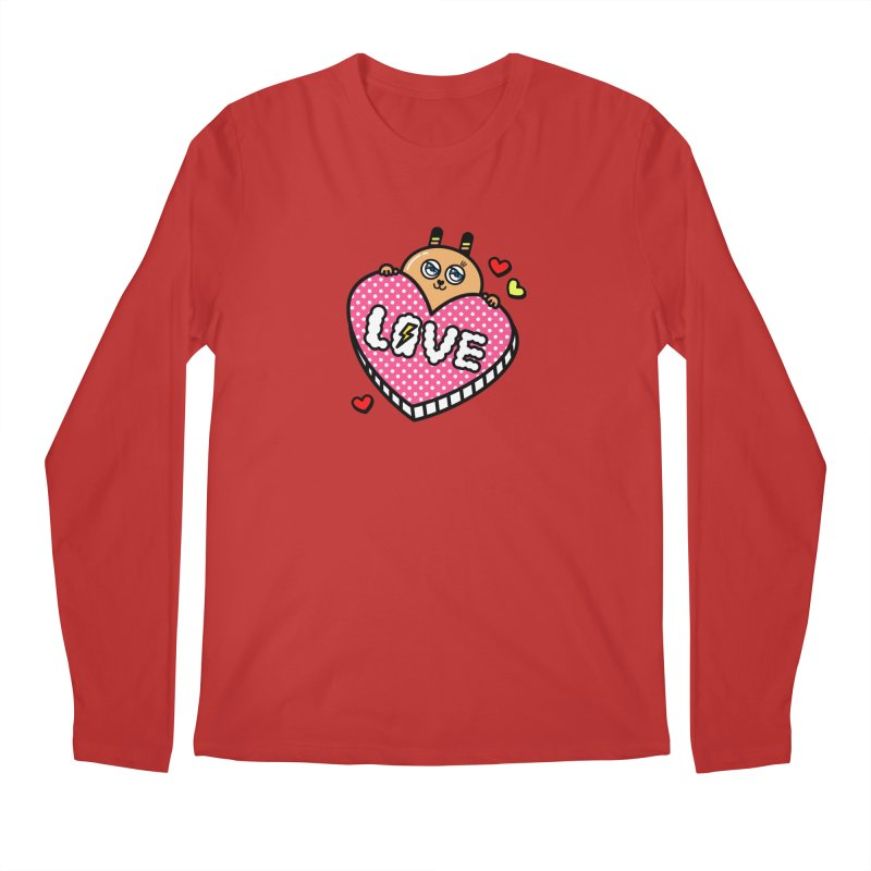 Love is so sweet Men's Regular Longsleeve T-Shirt by beatbeatwing's Artist Shop