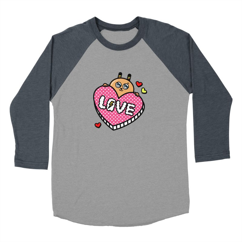 Love is so sweet Men's Baseball Triblend Longsleeve T-Shirt by beatbeatwing's Artist Shop