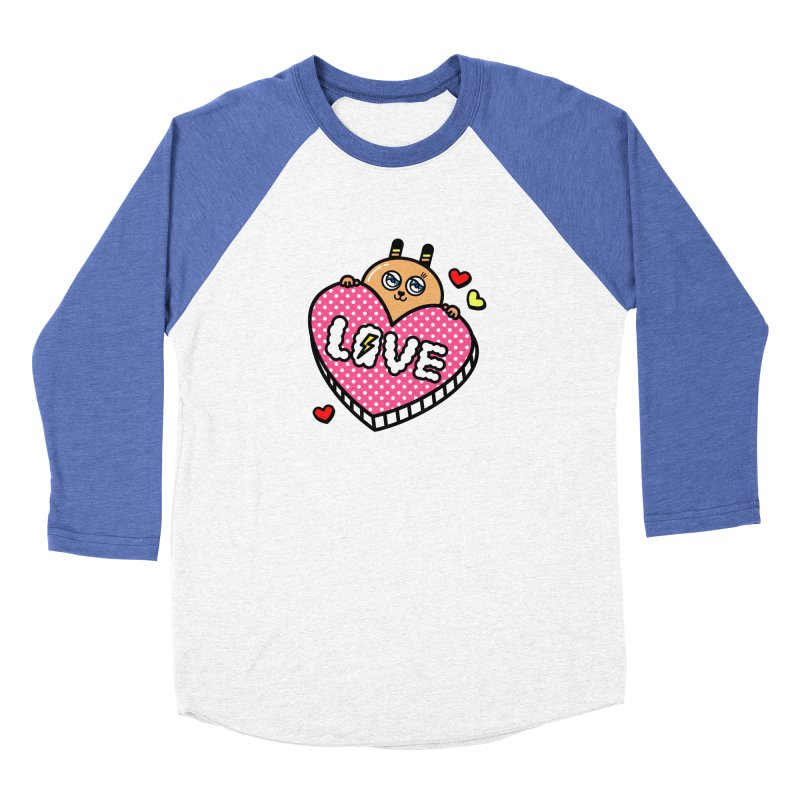 Love is so sweet Men's Baseball Triblend Longsleeve T-Shirt by beatbeatwing's Artist Shop