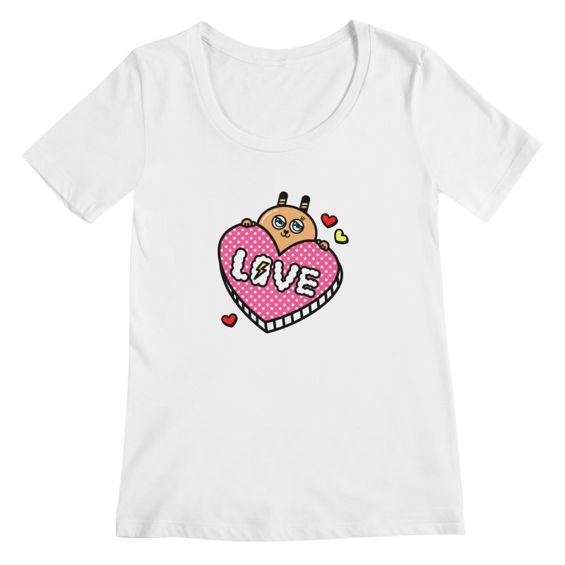 Love is so sweet Women's Scoopneck by beatbeatwing's Artist Shop