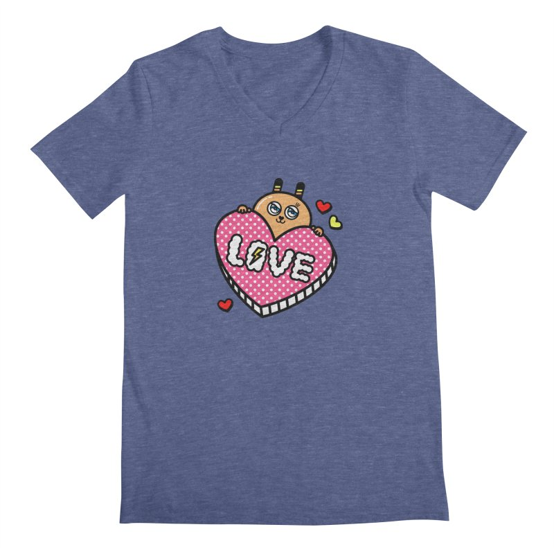 Love is so sweet Men's Regular V-Neck by beatbeatwing's Artist Shop