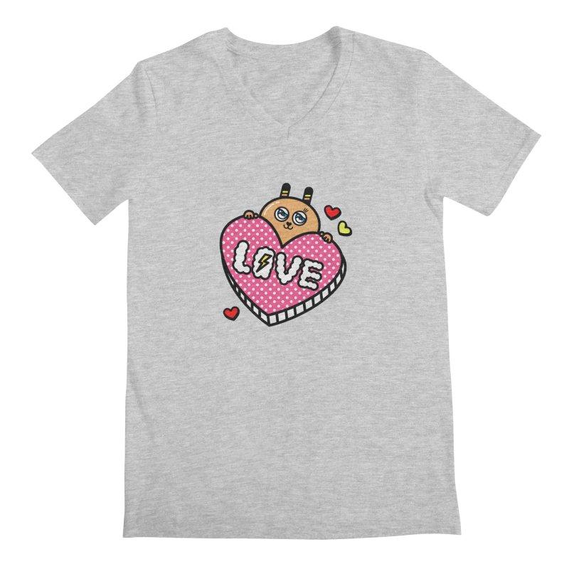 Love is so sweet Men's Regular V-Neck by beatbeatwing's Artist Shop