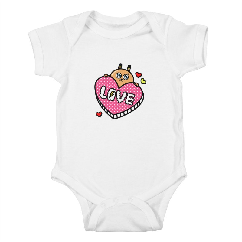 Love is so sweet Kids Baby Bodysuit by beatbeatwing's Artist Shop
