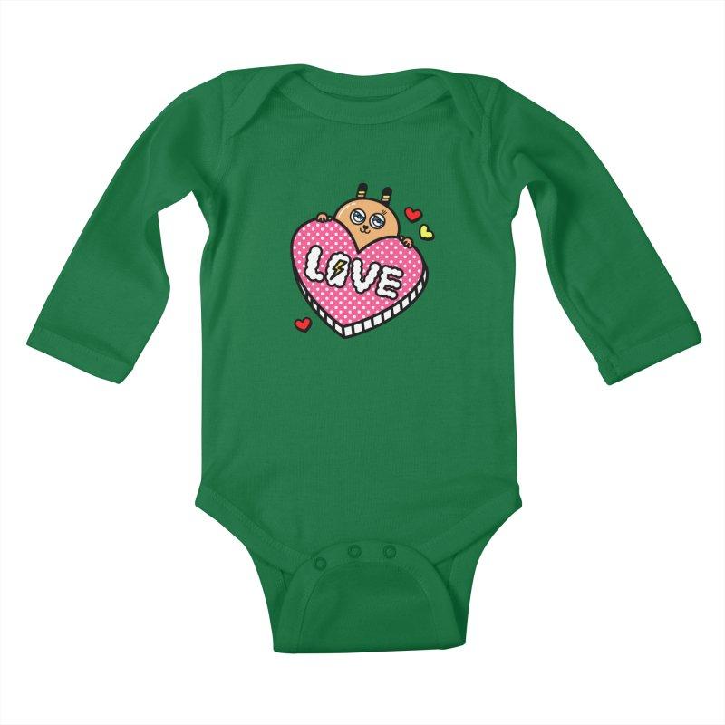 Love is so sweet Kids Baby Longsleeve Bodysuit by beatbeatwing's Artist Shop