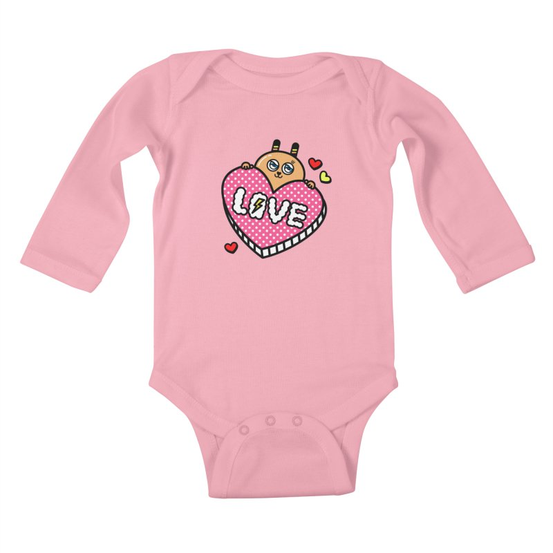 Love is so sweet Kids Baby Longsleeve Bodysuit by beatbeatwing's Artist Shop