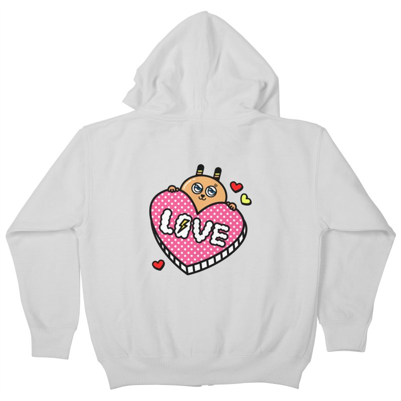 Love is so sweet Kids Zip-Up Hoody by beatbeatwing's Artist Shop