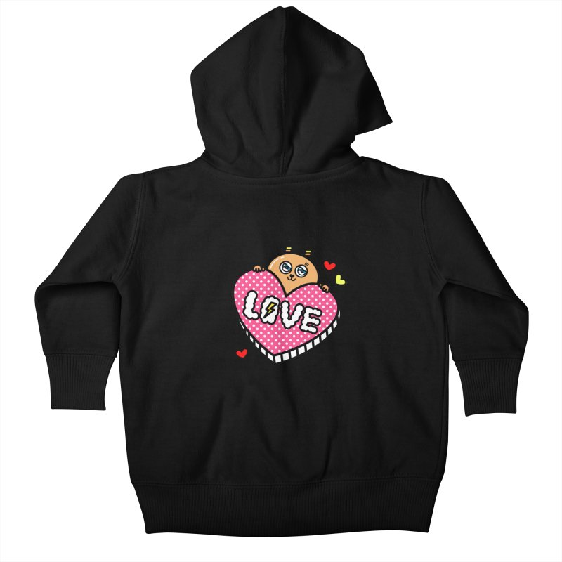 Love is so sweet Kids Baby Zip-Up Hoody by beatbeatwing's Artist Shop