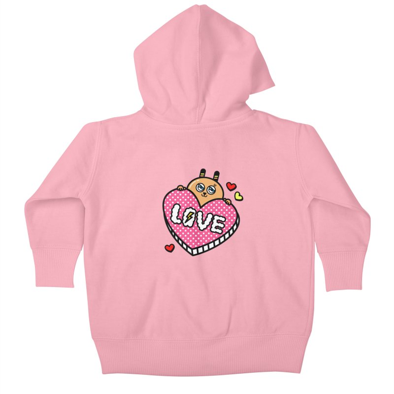 Love is so sweet Kids Baby Zip-Up Hoody by beatbeatwing's Artist Shop