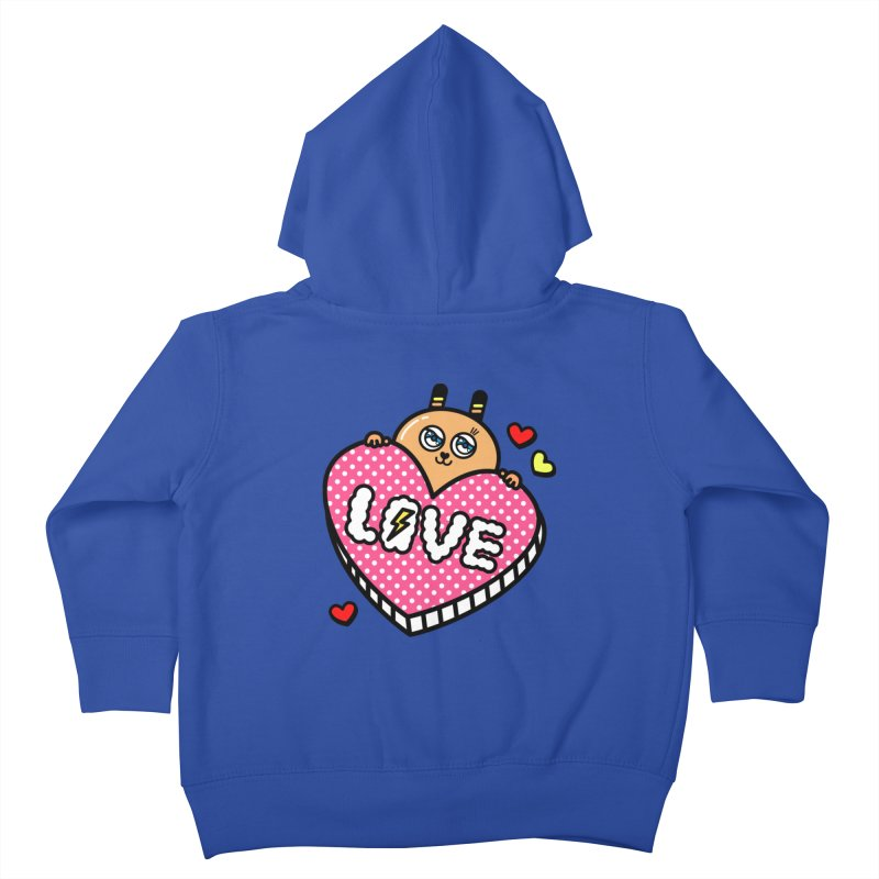 Love is so sweet Kids Toddler Zip-Up Hoody by beatbeatwing's Artist Shop