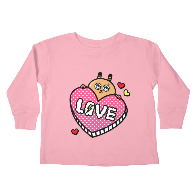 Love is so sweet Kids Toddler Longsleeve T-Shirt by beatbeatwing's Artist Shop