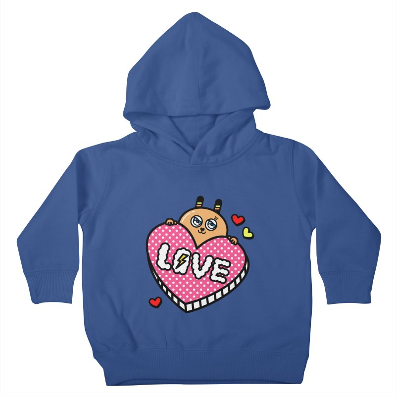 Love is so sweet Kids Toddler Pullover Hoody by beatbeatwing's Artist Shop