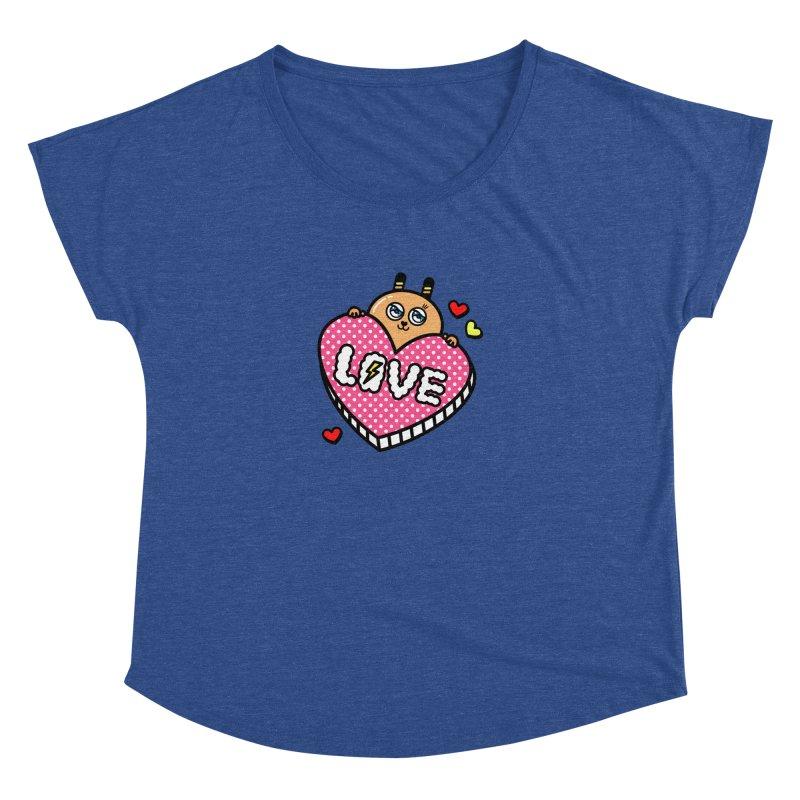 Love is so sweet Women's Dolman Scoop Neck by beatbeatwing's Artist Shop