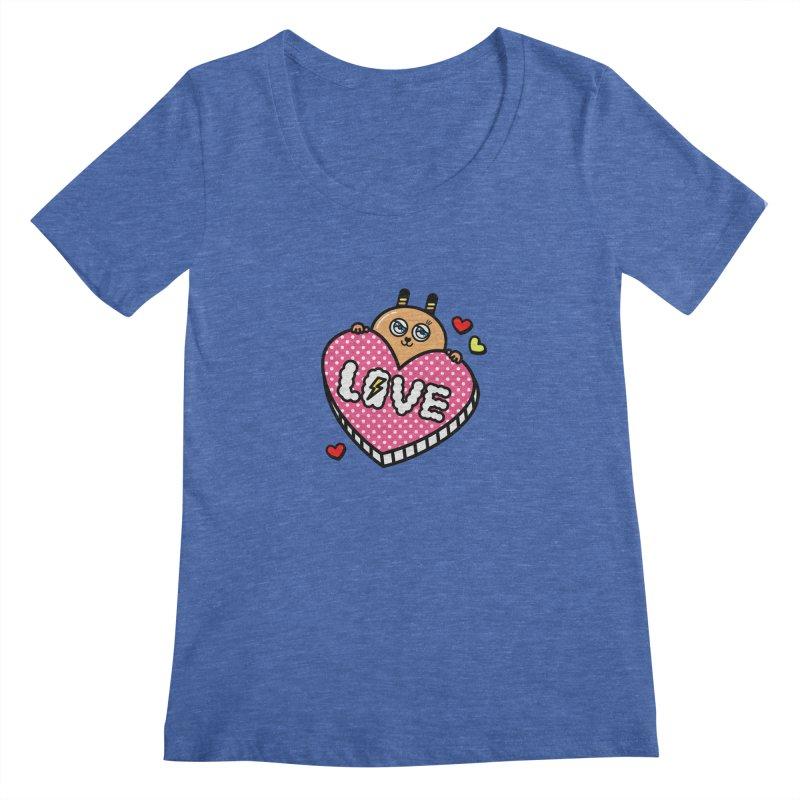 Love is so sweet Women's Scoopneck by beatbeatwing's Artist Shop