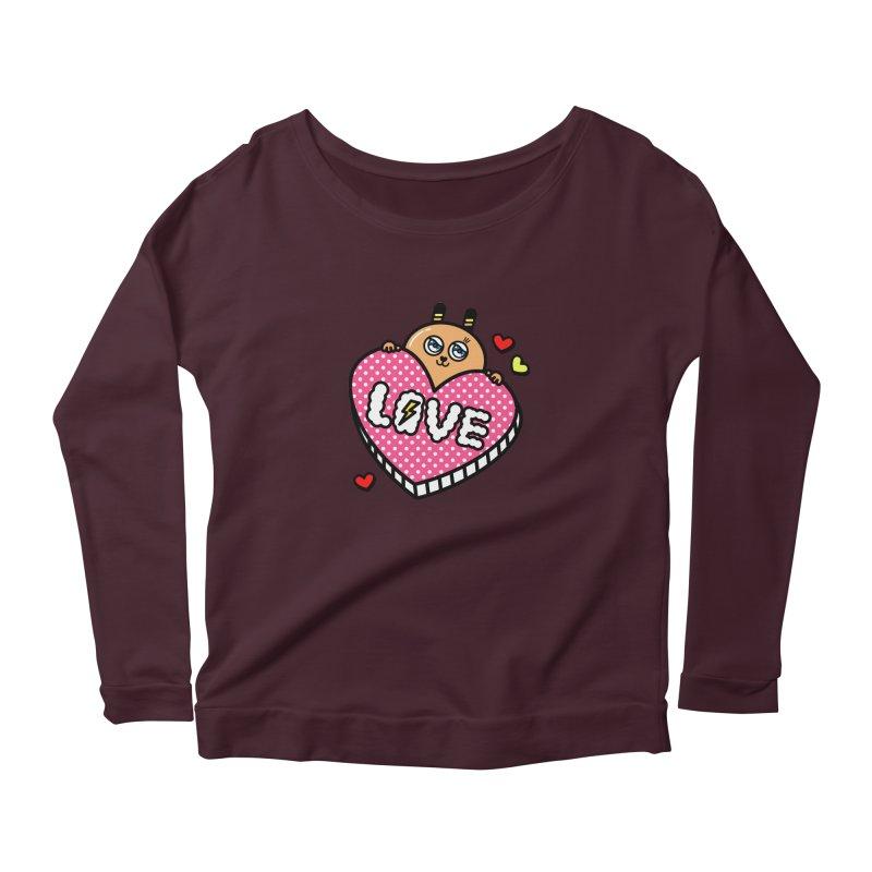 Love is so sweet Women's Longsleeve Scoopneck  by beatbeatwing's Artist Shop