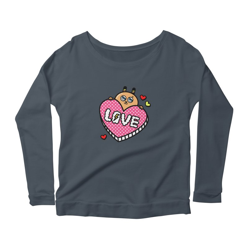 Love is so sweet Women's Longsleeve Scoopneck  by beatbeatwing's Artist Shop
