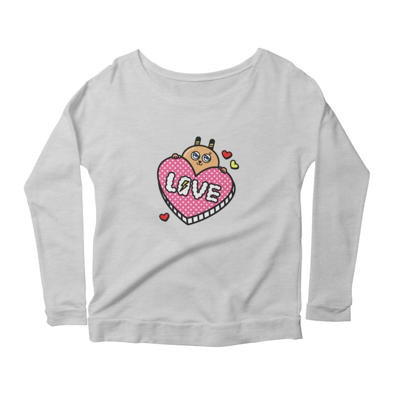 Love is so sweet Women's Scoop Neck Longsleeve T-Shirt by beatbeatwing's Artist Shop