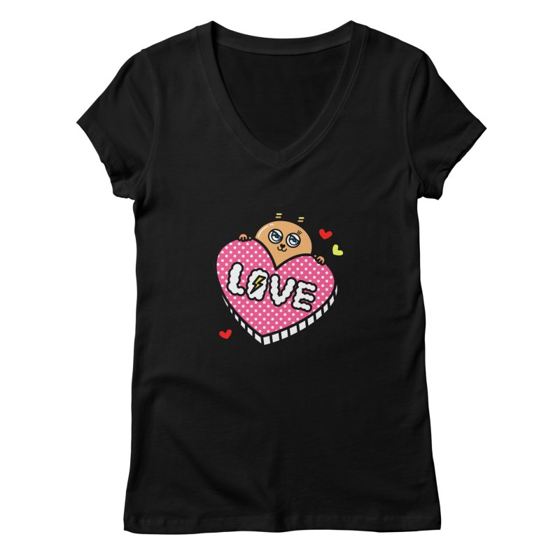 Love is so sweet Women's V-Neck by beatbeatwing's Artist Shop