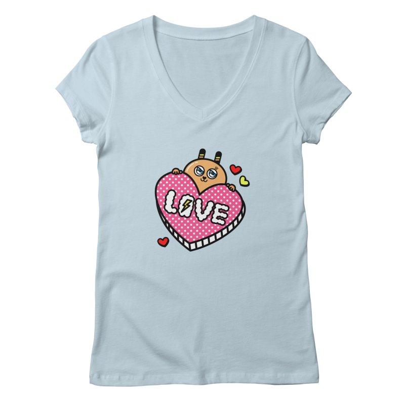 Love is so sweet Women's Regular V-Neck by beatbeatwing's Artist Shop