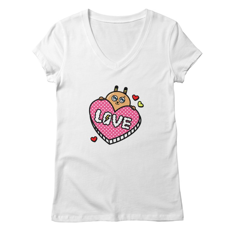 Love is so sweet Women's V-Neck by beatbeatwing's Artist Shop