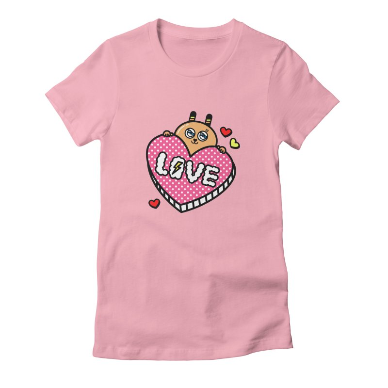 Love is so sweet Women's Fitted T-Shirt by beatbeatwing's Artist Shop