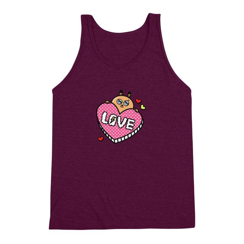 Love is so sweet Men's Triblend Tank by beatbeatwing's Artist Shop