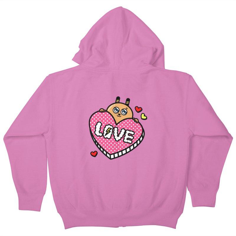 Love is so sweet Kids Zip-Up Hoody by beatbeatwing's Artist Shop