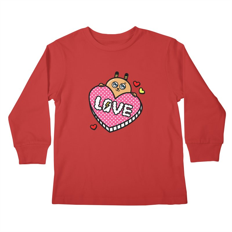 Love is so sweet Kids Longsleeve T-Shirt by beatbeatwing's Artist Shop