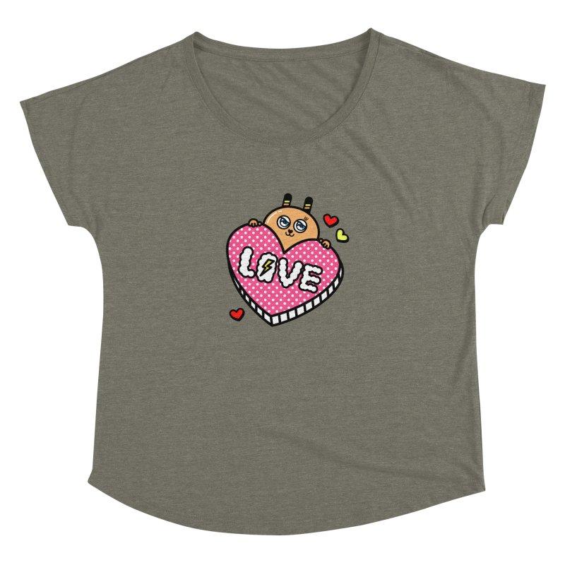 Love is so sweet Women's Scoop Neck by beatbeatwing's Artist Shop