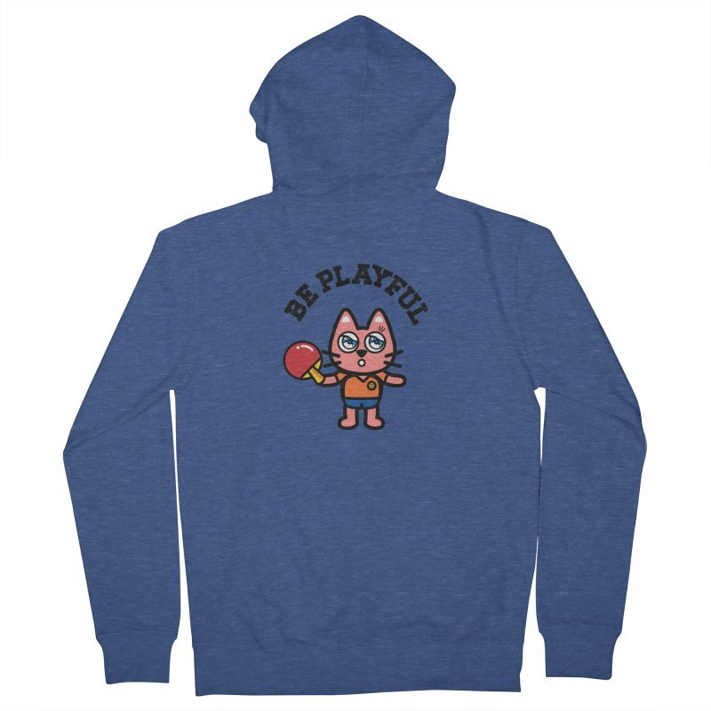 i am table-tennis player Women's French Terry Zip-Up Hoody by beatbeatwing's Artist Shop