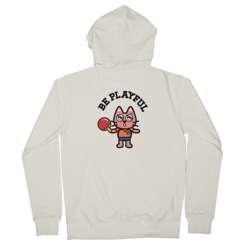 i am table-tennis player Men's French Terry Zip-Up Hoody by beatbeatwing's Artist Shop