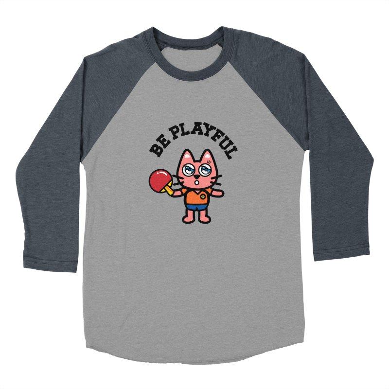 i am table-tennis player Men's Baseball Triblend Longsleeve T-Shirt by beatbeatwing's Artist Shop