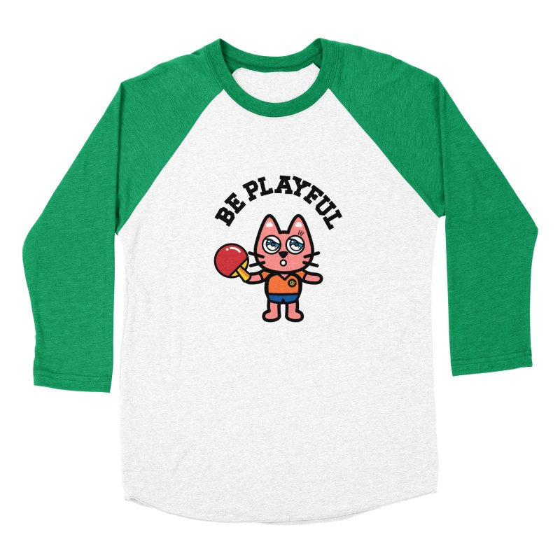 i am table-tennis player Men's Baseball Triblend Longsleeve T-Shirt by beatbeatwing's Artist Shop