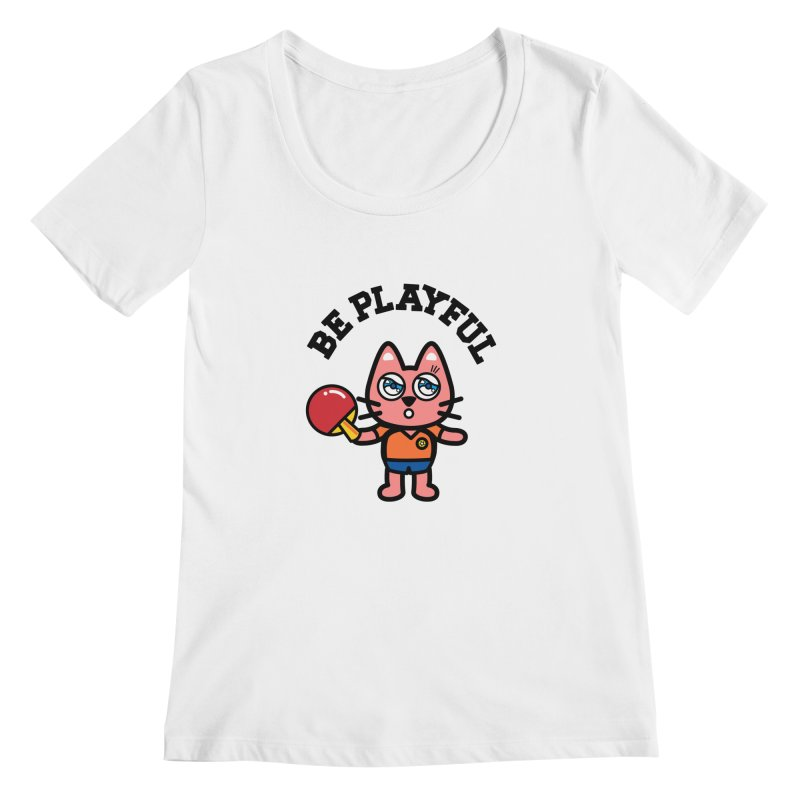 i am table-tennis player Women's Regular Scoop Neck by beatbeatwing's Artist Shop
