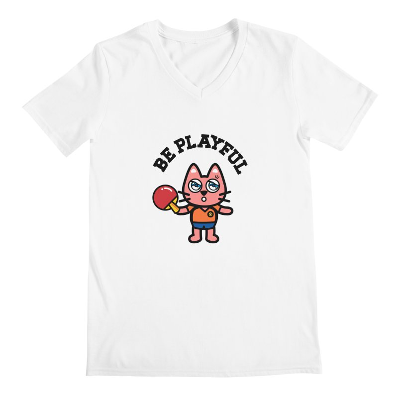 i am table-tennis player Men's V-Neck by beatbeatwing's Artist Shop