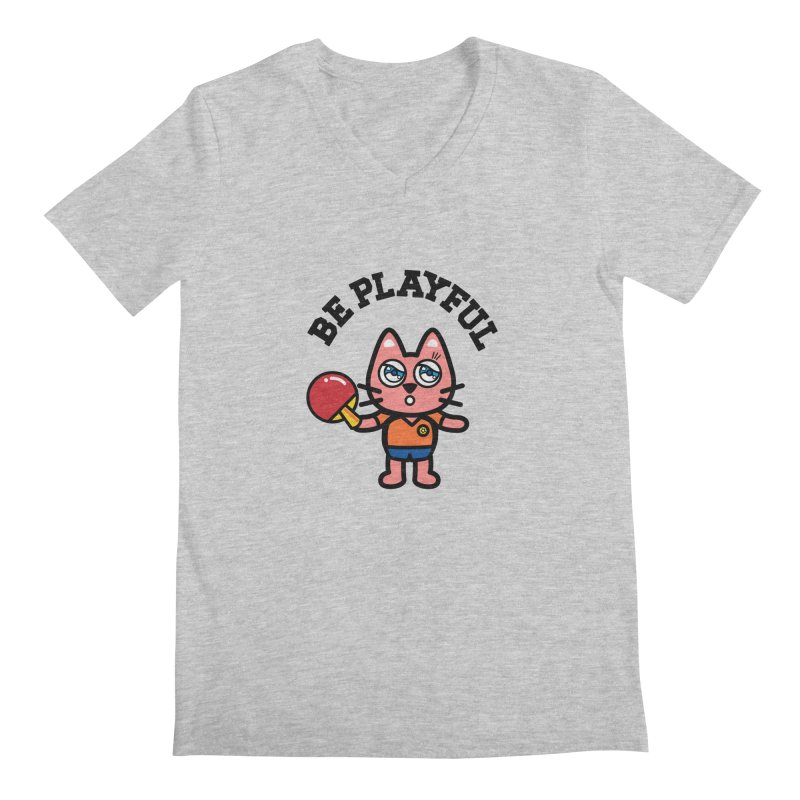 i am table-tennis player Men's Regular V-Neck by beatbeatwing's Artist Shop