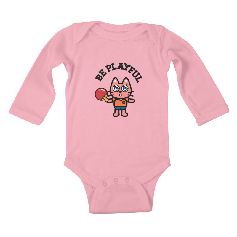 i am table-tennis player Kids Baby Longsleeve Bodysuit by beatbeatwing's Artist Shop