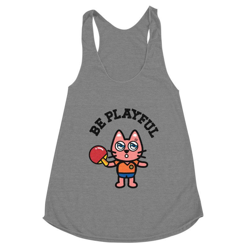i am table-tennis player Women's Racerback Triblend Tank by beatbeatwing's Artist Shop