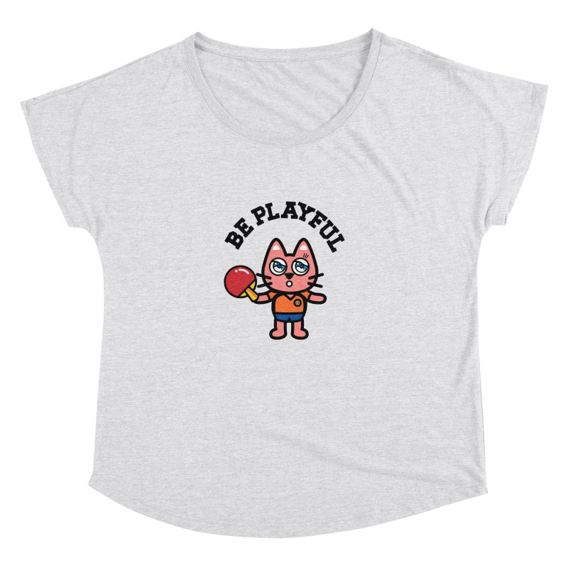 i am table-tennis player Women's Dolman Scoop Neck by beatbeatwing's Artist Shop