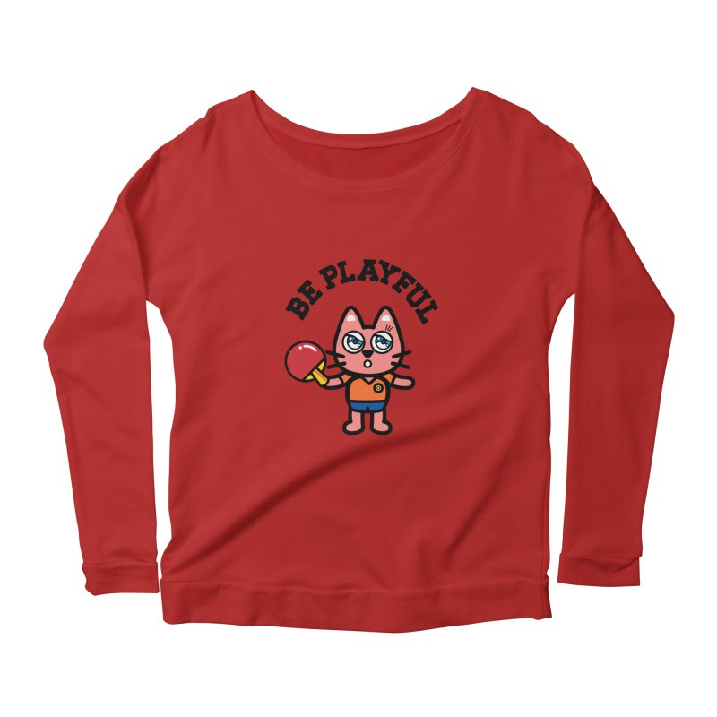 i am table-tennis player Women's Longsleeve Scoopneck  by beatbeatwing's Artist Shop