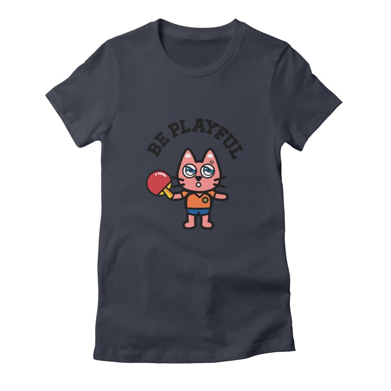 i am table-tennis player Women's Fitted T-Shirt by beatbeatwing's Artist Shop