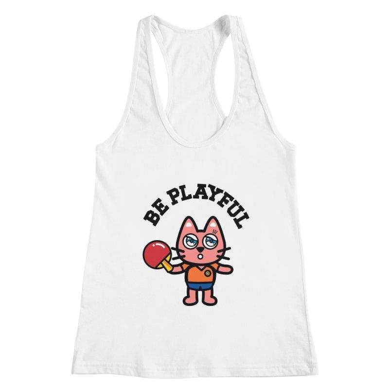 i am table-tennis player Women's Racerback Tank by beatbeatwing's Artist Shop