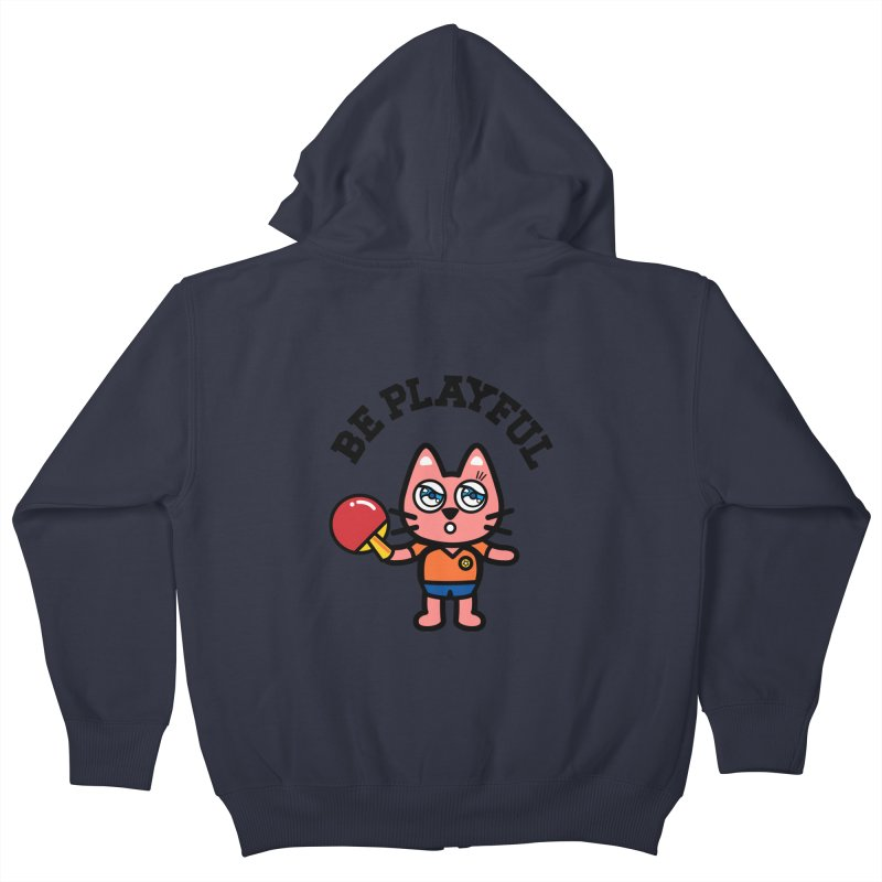 i am table-tennis player Kids Zip-Up Hoody by beatbeatwing's Artist Shop