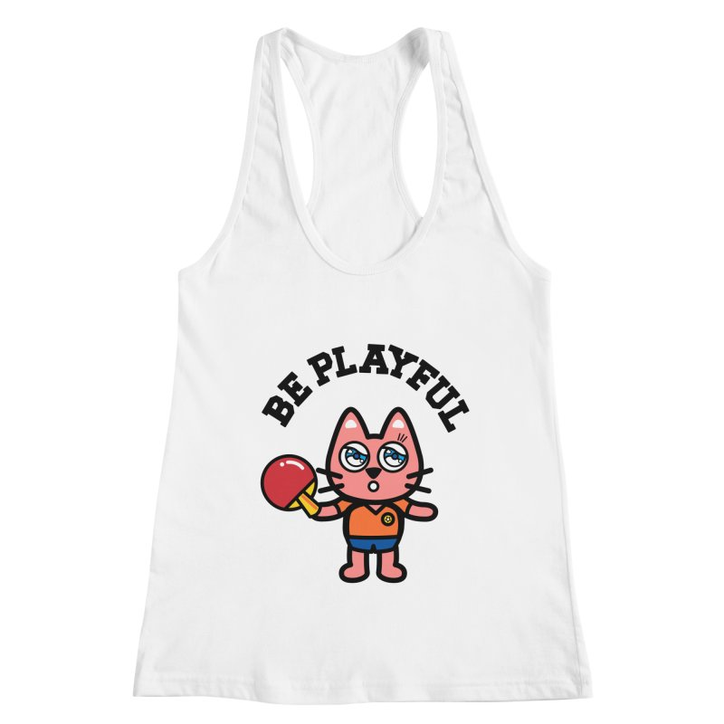 i am table-tennis player Women's Racerback Tank by beatbeatwing's Artist Shop