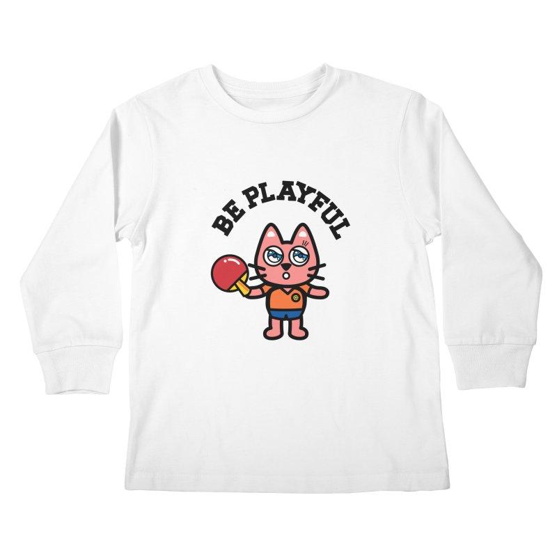 i am table-tennis player Kids Longsleeve T-Shirt by beatbeatwing's Artist Shop