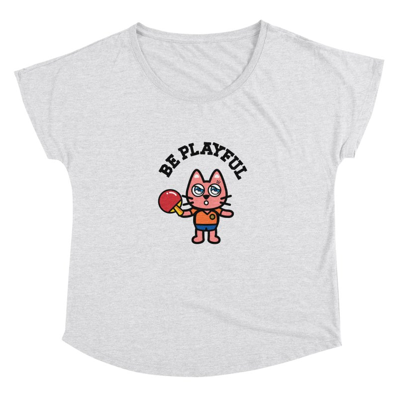 i am table-tennis player Women's Scoop Neck by beatbeatwing's Artist Shop