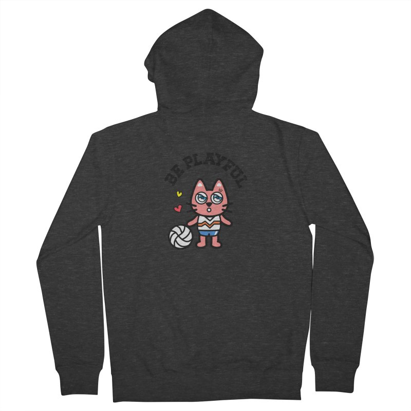 i am volleyball player Men's French Terry Zip-Up Hoody by beatbeatwing's Artist Shop