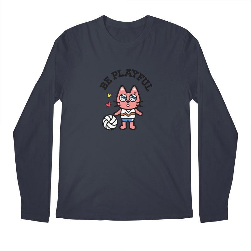 i am volleyball player Men's Regular Longsleeve T-Shirt by beatbeatwing's Artist Shop