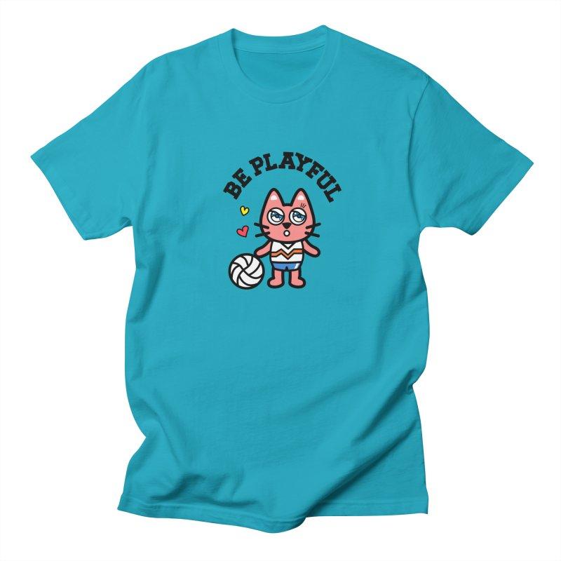 i am volleyball player Men's Regular T-Shirt by beatbeatwing's Artist Shop