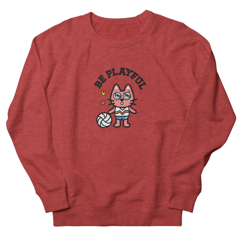i am volleyball player Men's French Terry Sweatshirt by beatbeatwing's Artist Shop